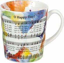 Kaffeetasse Oh Happy Day mit Lyrics