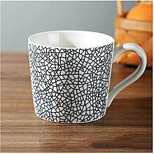 Kaffeetasse Retro-Stil-Becher mit abgerundetem
