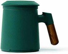 Kaffeetasse Sandalwood Griff Tee-Becher, Keramik