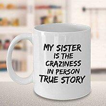 Kaffeetasse Schwester Geschichte Sorella Lustige