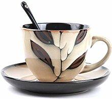Kaffeetasse Set Einfache Persönlichkeit Keramik