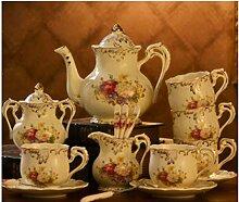 Kaffeetasse Set Vintage Englisch Europäisches