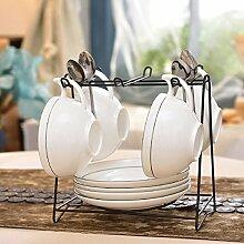 Kaffeetasse setzen europäische keramik kaffee set zu hause einfach und bone china kaffeetasse löffel geschirrablage-M