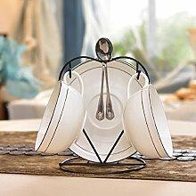 Kaffeetasse setzen europäische keramik kaffee set zu hause einfach und bone china kaffeetasse löffel geschirrablage-L