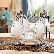 Kaffeetasse setzen europäische keramik kaffee set zu hause einfach und bone china kaffeetasse löffel geschirrablage-R