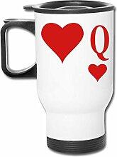 Kaffeetasse/Teebecher/Autobecher mit Herzmotiv,
