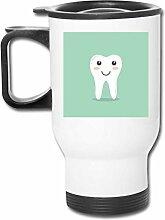Kaffeetasse/Teebecher/Autobecher mit Zahnmotiv,
