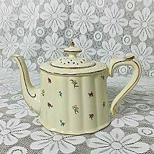 Kaffeetasse Topf Nette Sahne Floral Nachmittag Tee