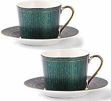 Kaffeetasse Und Saucer Set Gold-Porzellan-Tee-Cup