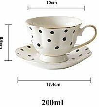 Kaffeetasse/Untertasse, Blumenform, Keramik, mit