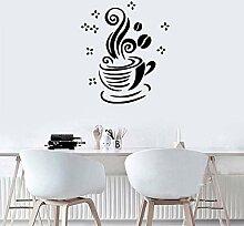 Kaffeetasse Wandaufkleber Bar Fensterdekoration