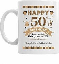 Kaffeetasse zum 50. Geburtstag, Geschenkidee