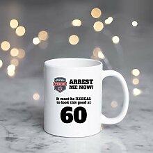 Kaffeetasse zum 60. Geburtstag, Geschenk zum 60.