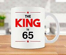 Kaffeetasse zum 65. Geburtstag, Geschenkidee für