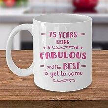 Kaffeetasse zum 75. Geburtstag, Geschenkidee für