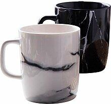 Kaffeetassen 1 / 2Pcs 300Ml Keramik Marmor Design