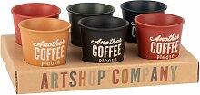 Kaffeetassen aus Porzellan, bunt mit Druckmotiv