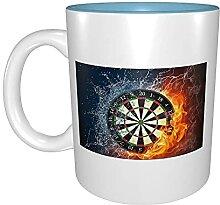 Kaffeetassen & Becher Dartscheibe Target Ice Fire