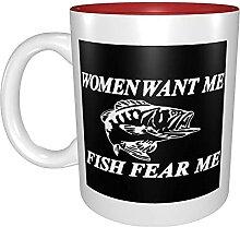 Kaffeetassen & Becher Frauen wollen mich Fisch