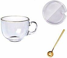 Kaffeetassen & Becher Glas Kaffeetasse Set, Becher