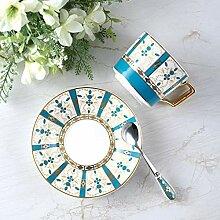 Kaffeetassen Becher Kaffeetasse mit Löffel Tasse