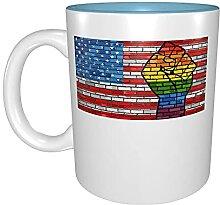 Kaffeetassen & Becher LGBT Amerikanische Flagge