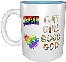 Kaffeetassen & Becher LGBT Gay Girl Guter Gott
