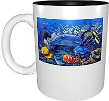 Kaffeetassen & Becher Meeresschildkröte Delphin
