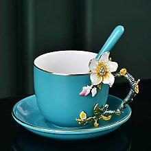 Kaffeetassen,Emaille Tasse farbiges Wasser