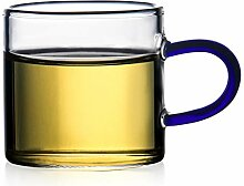 Kaffeetassen Kaffeetasse Transparente Glas-Schale