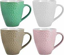 Kaffeetassen-Set | Keramik | Struktur Design | in