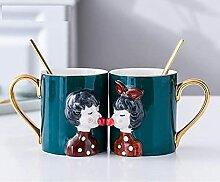 Kaffeetassen Tasse Porzellan 2Pcs / Set