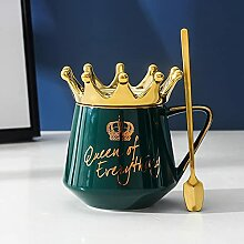 Kaffeetassen Tasse Porzellan Keramik Crown Theme