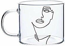 KaffeeTeegläser,Trinkgläser 400ml Stern Herz