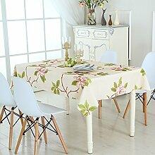 Kaffeetisch Tischtuch,Stoff Wasserdichte Tischdecke Tischdecke,Rechteckige Teigwaren Tischdecke-B 135x220cm(53x87inch)