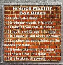 Kaffeeuntersetzer mit französischem Mastiff Dog
