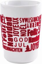 "Kahla ""touch"" XMas Becher Xmas Greetings rot 350 ml"