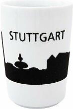 Kahla 394605A26035C Maxi-Becher Stuttgart Skyline touch! 0.35 L, schwarz