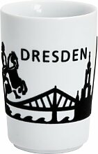 Kahla 394605A26166C Maxi-Becher Dresden Skyline touch! 0.35 L, schwarz