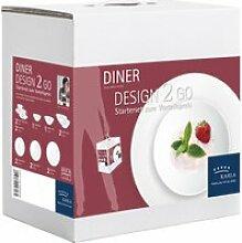 Kahla - Diner Design 2 Go Geschirr-Set, weiß (14