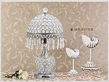 KAI Europäische kristall Lampe Tischleuchte Schlafzimmer Europäischen crystal modernen minimalistischen Wohnzimmer Dekoration Ideen, Silber