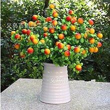 KAI-simulation pflanzen eingetopft zubehör weihnachtsdekoration schaum obst kleine rote früchte gutes obst länge 33cm insgesamt 4 zweige