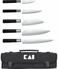 Kai Wasabi Black Messer-Set Europa - 5 Messer mit