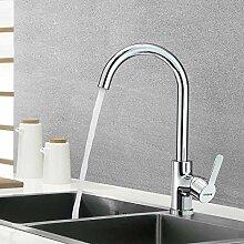 KAIBOR 360° Schwenkbar Wasserhahn Küche, Chrom