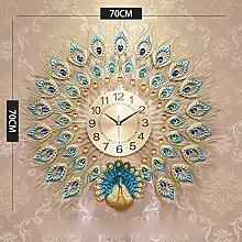 KAIDEFI Pfau Dekorative Uhren,Europäischen