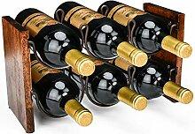 kaifulu Weinregal mit 2 Ebenen, für 6 Flaschen
