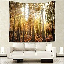 Kaige Tapisserie Landschaft Wald Fototapete