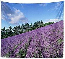 Kaige Tapisserie Lavendel Wandteppich Home