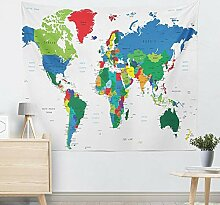 Kaige Tapisserie Weltkarte Home Wandteppich