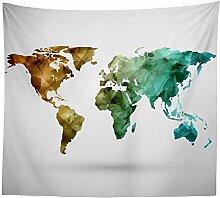 Kaige Tapisserie Weltkarte Tapete Home Dekoration